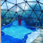 Навес для бассейна диаметр 7 м.
