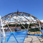 Навес для бассейна диаметр 12 м.