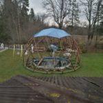 Навес для бассейна диаметр 10 м.